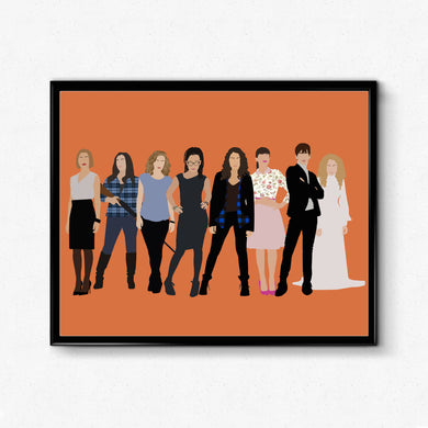 Orphan Black Poster- TV Show Poster, Minimalist Print Wall Art