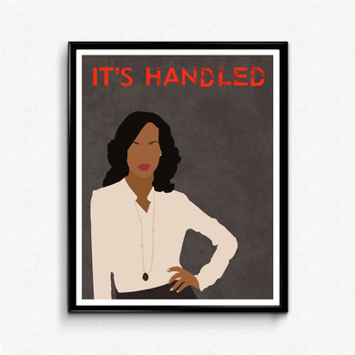 Scandal, Olivia Pope• TV Print
