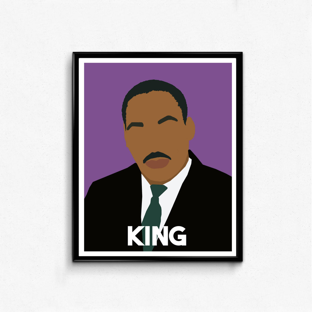 Martin Luther King Jr Portrait- Remarkable Men, MLK, Minimalist Portrait
