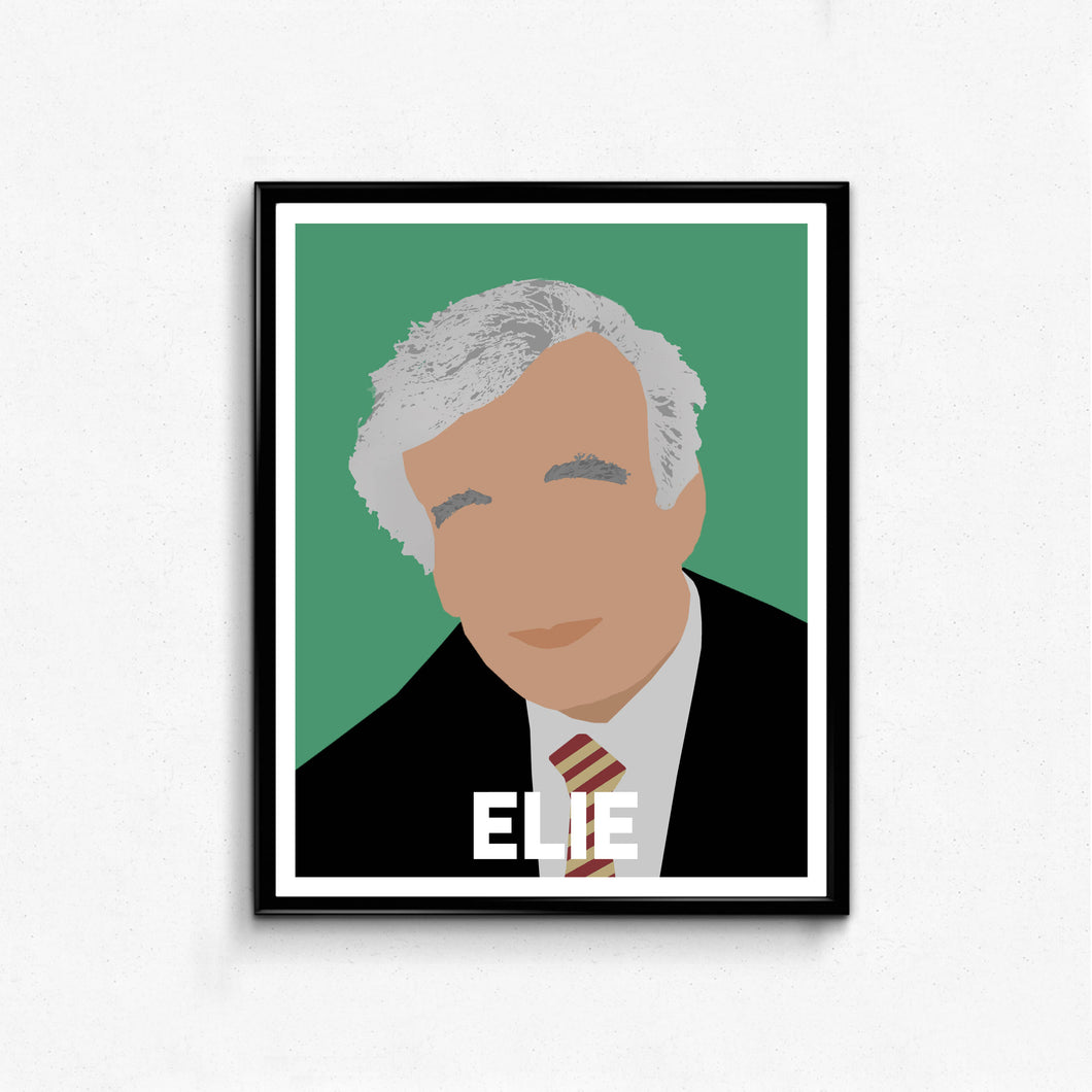 Elie Wiesel Minimalist Portrait- Remarkable Men Art, Wall Art