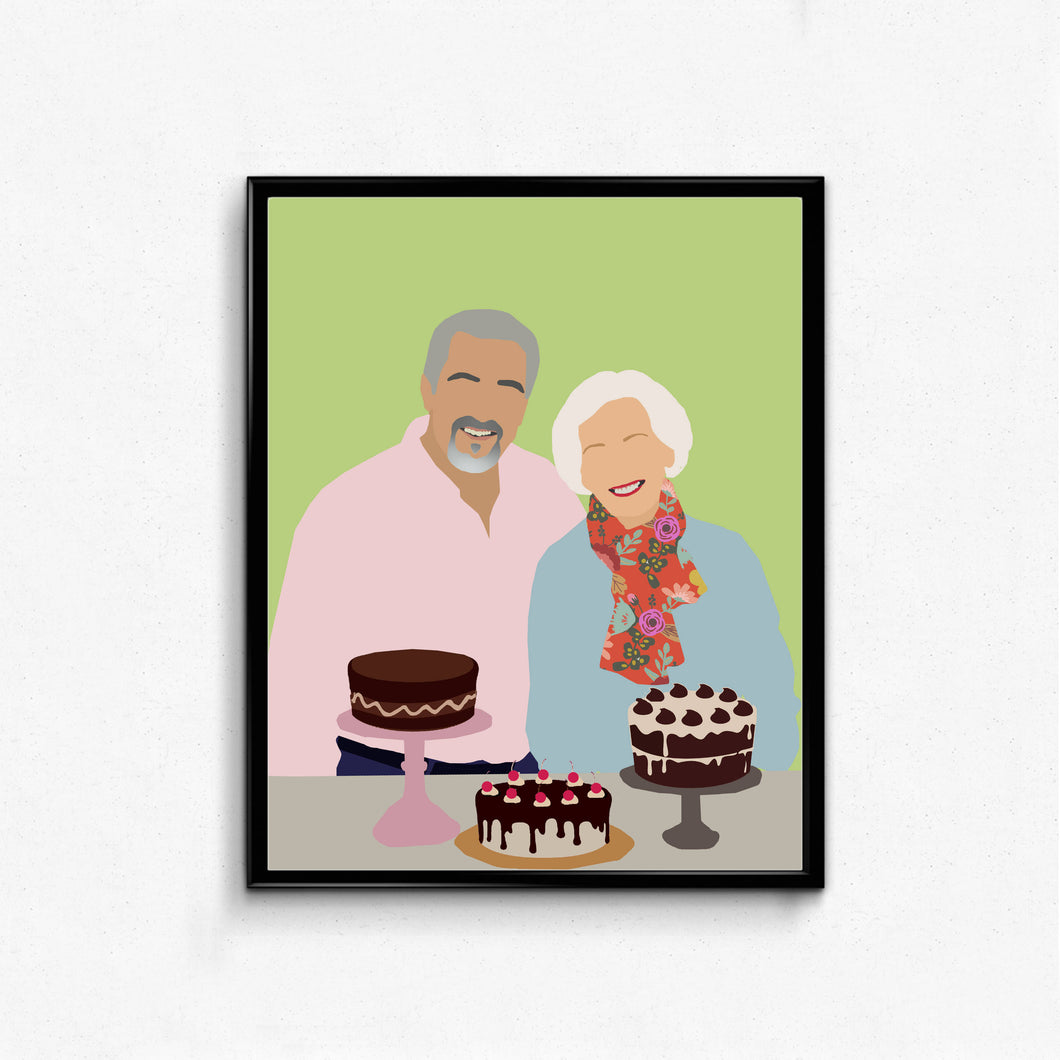 Great British Bake Off- Mary Berry and Paul Hollywood Minimalist Poster