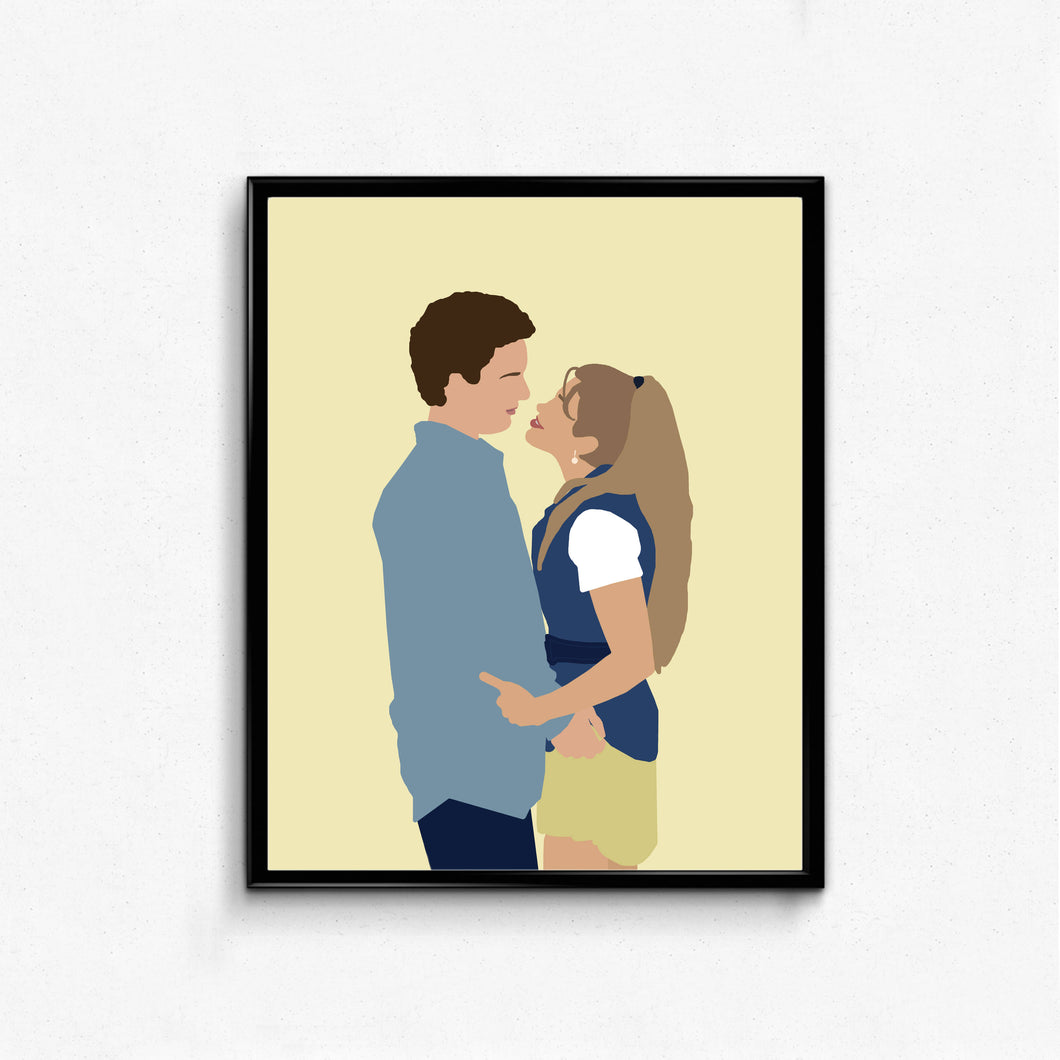 Boy Meets World, Cory and Topanga • TV Print