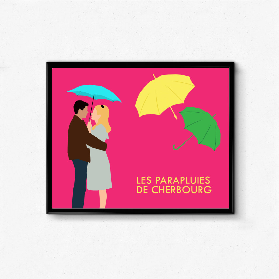 Les Parapluies de Cherbourg (The Umbrellas of Cherbourg) • Movie Print