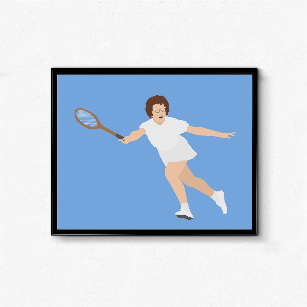 Billie Jean King Poster- Tennis, Athlete Minimalist Poster