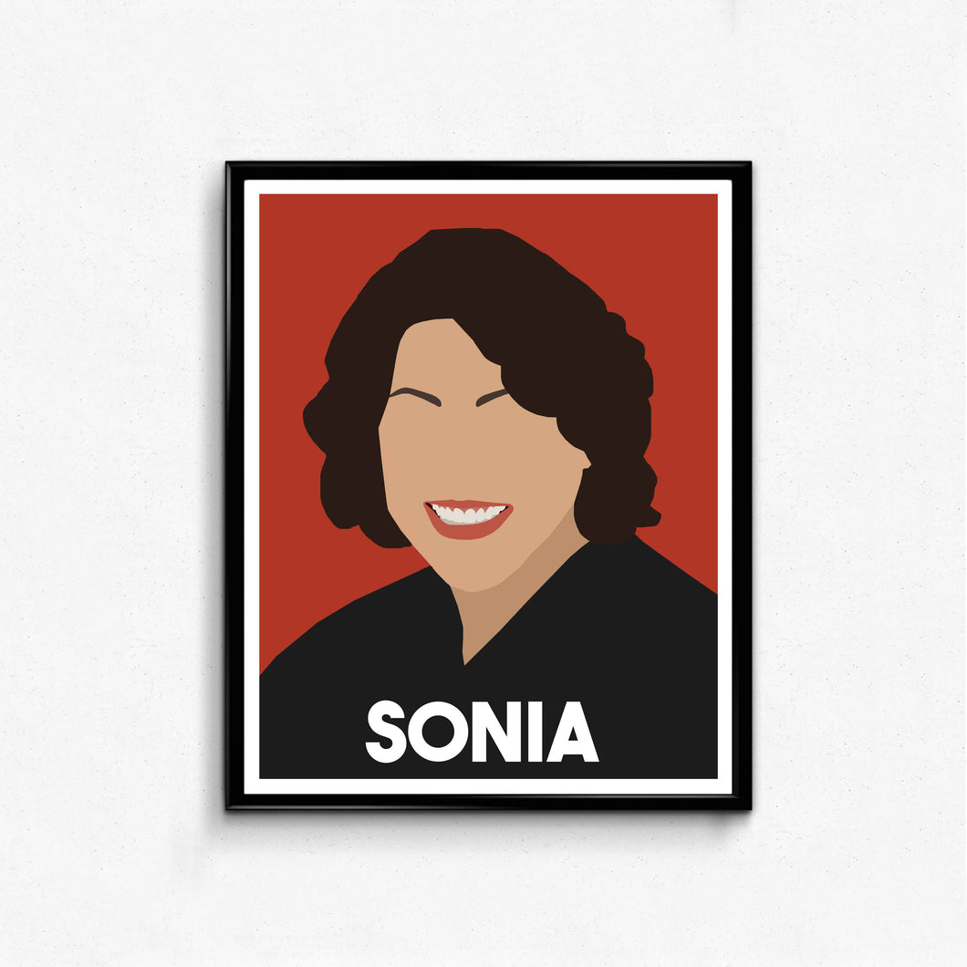 Sonia Sotomayor Feminist Icon Print- Minimalist Wall Art Decor