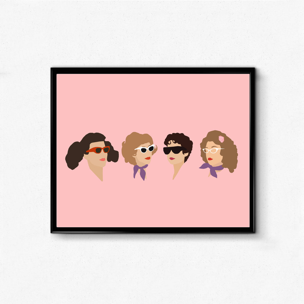 Grease, Pink Ladies • Movie Print