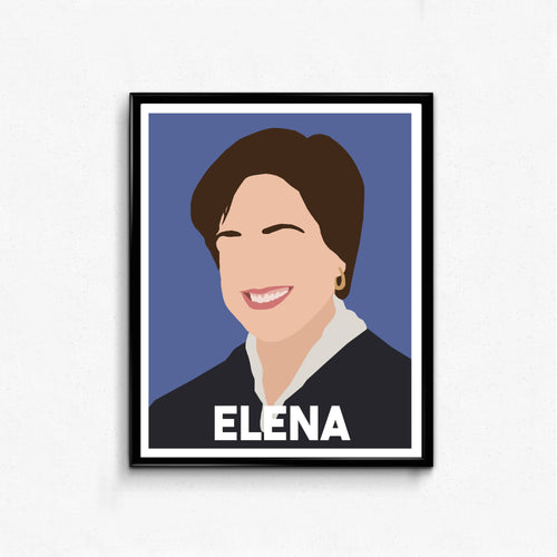 Elena Kagan Feminist Icon Poster- Supreme Court Justice, Minimalist Wall Art