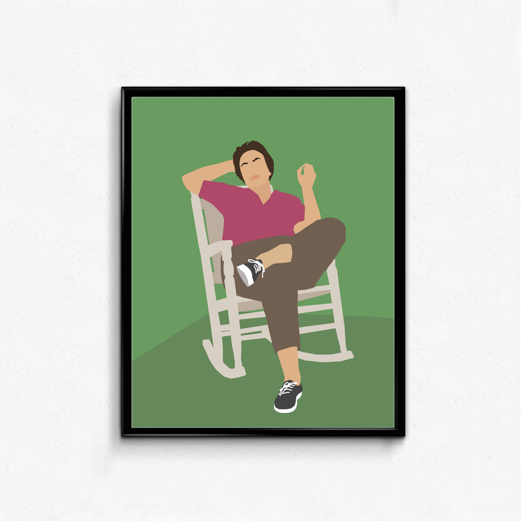Harper Lee Feminist Poster- Minimalist Writer Poster- Wall Art Decor