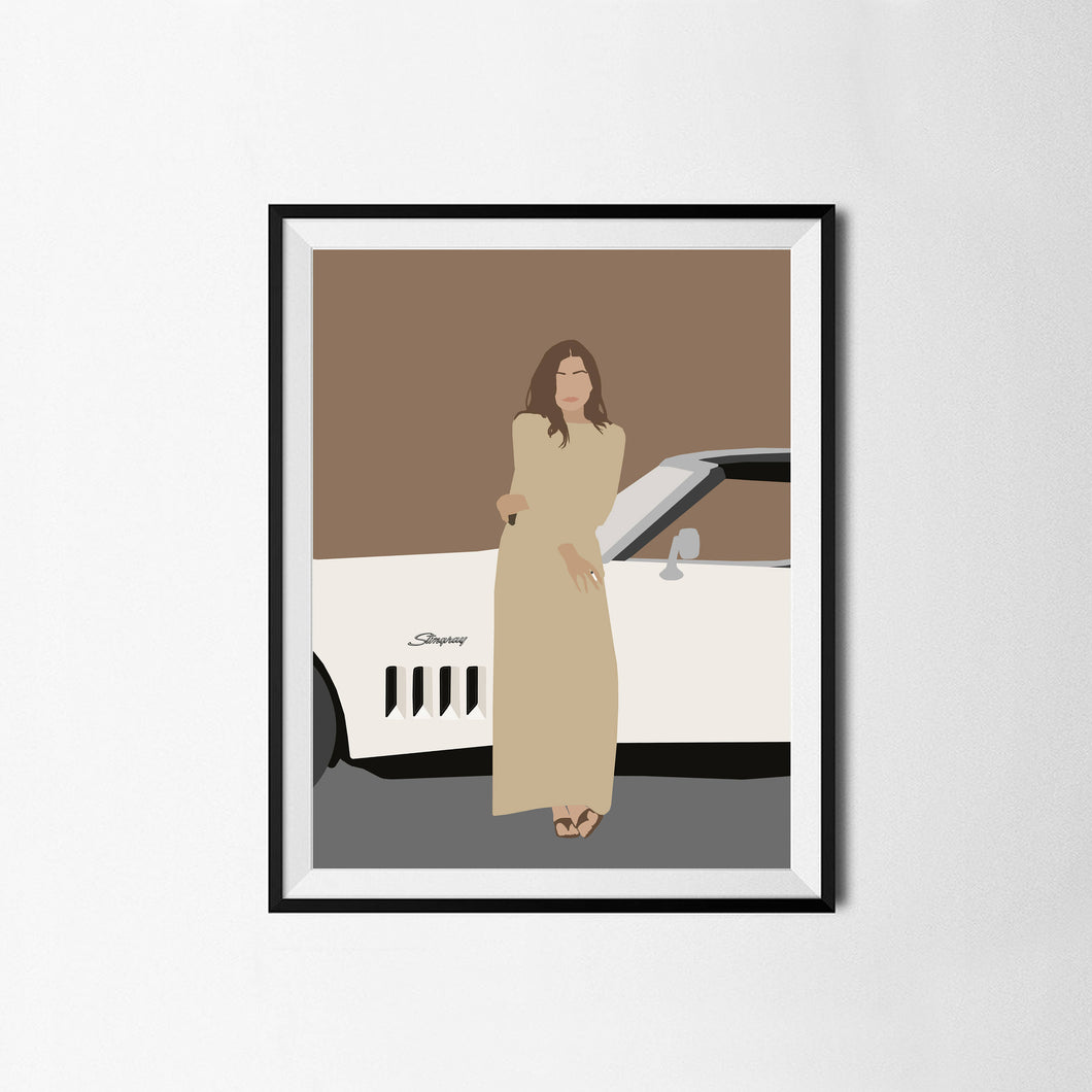 Joan Didion Minimalist Poster- Icon Portrait, Writer Poster, Wall Art Decor
