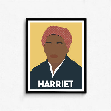 Harriet Tubman Feminist Icon Portrait- Wall Art Decor