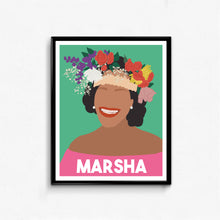 Marsha P. Johnson Feminist Icon Portrait- Minimalist Feminist Art, Wall Art Decor