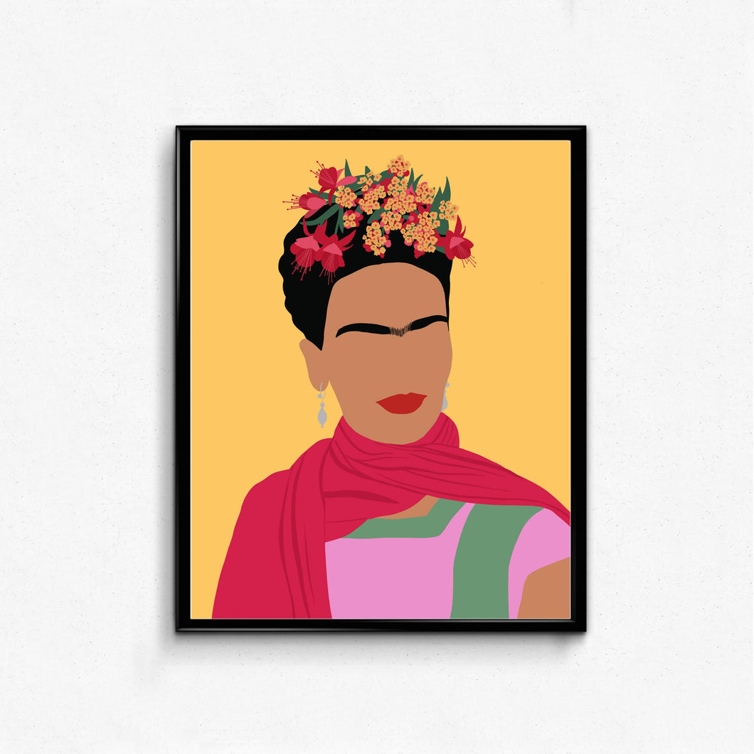 Frida Kahlo Feminist Portrait- Female, Feminist Art, Minimalist Art, Wall Decor