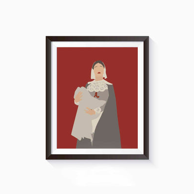 Hester Prynne, The Scarlett Letter Poster • Literature Collection