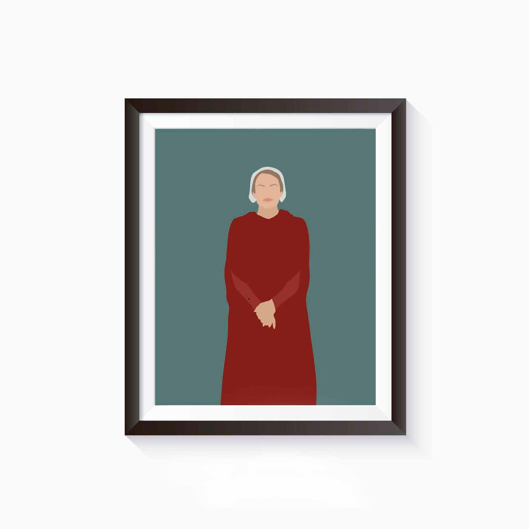 June Offred, The Handmaid's Tale Poster • Literature Collection