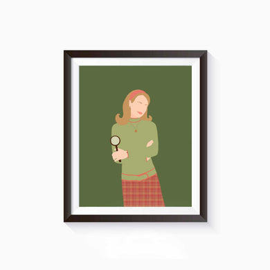 Nancy Drew Book Poster, Literature Art Print, Female Literary Characters, Minimalist Feminist Art, Wall Art Decor