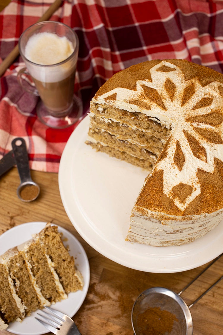 Bakedin Alternative Christmas Desserts Gingerbread Latte Cake