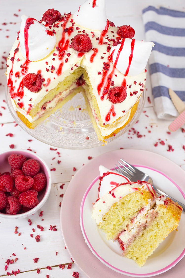 Bakedin Classic Bakes with a Twist Raspberry Eton Mess Cake Portrait