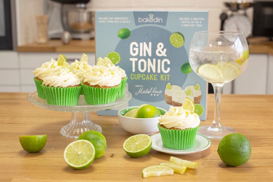 Bakedin DIY Wedding Cake Ideas Gin and Tonic Cupcakes