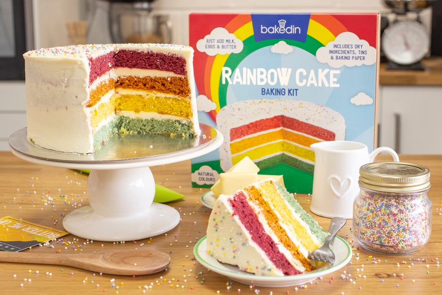 Bakedin DIY Wedding Cake Ideas Rainbow Cake