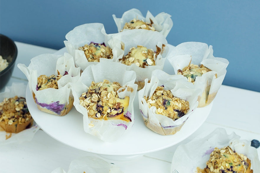 Bakedin Healthy Baking Recipes Blueberry and Granola Muffins