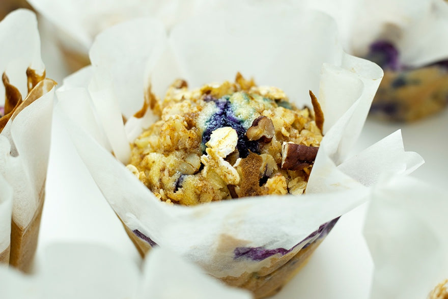 Bakedin Mothers Day Breakfast in Bed Ideas Blueberry Granola Muffins
