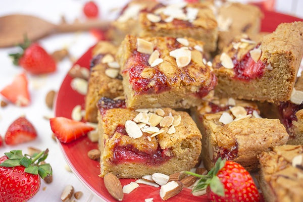 Bakedin Perfect Picnic Desserts Strawberry Almond Squares