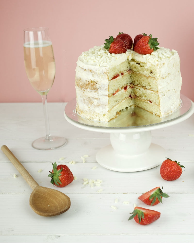 Bakedin Valentine's Baking Ideas Strawberry and Prosecco Cake