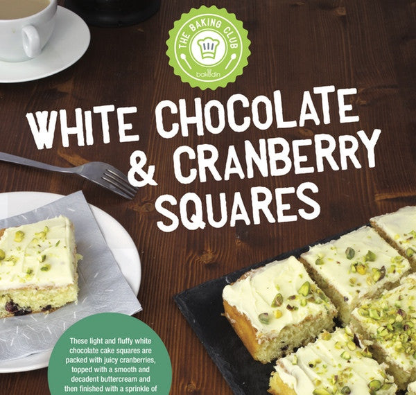 white chocolate and cranberry squares baking kit