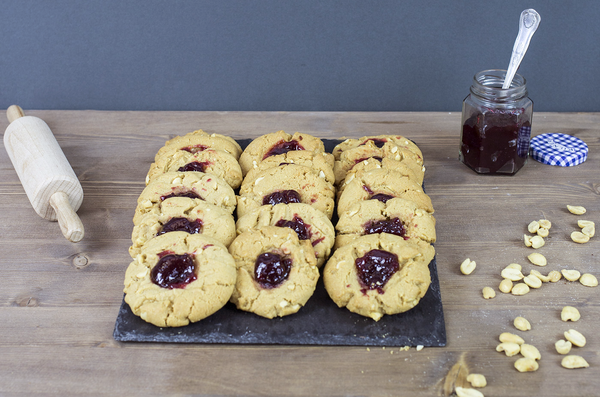 Bakedin Peanut Butter and Jam Cookies
