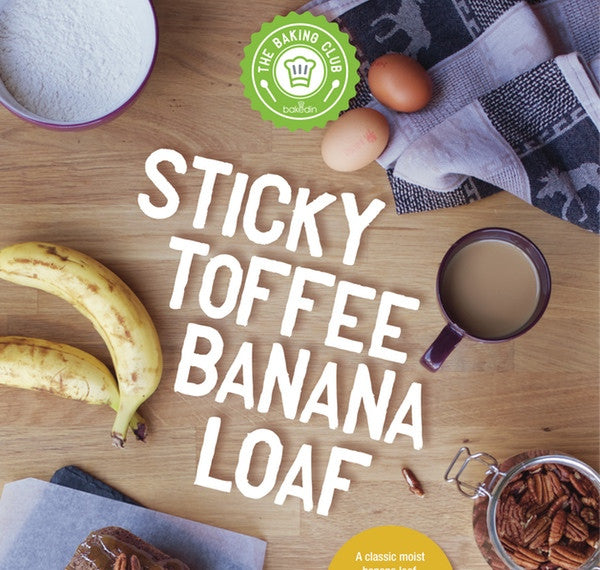 sticky toffee and banana loaf baking kit