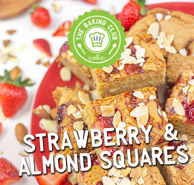 Bakedin Strawberry and Almond Squares