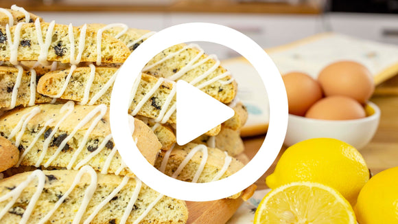 Past Baking Club Box - Lemon & Blueberry Biscotti