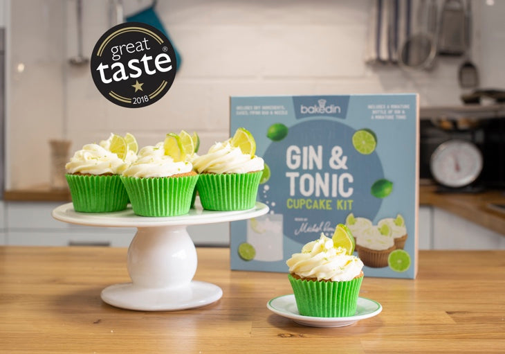 Bakedin Gin and Tonic Cupcake Kit Great Taste Award