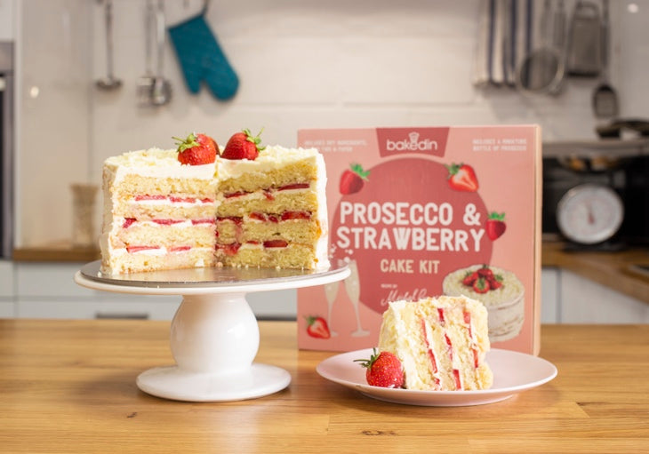 Bakedin Strawberry and Prosecco Cake Kit