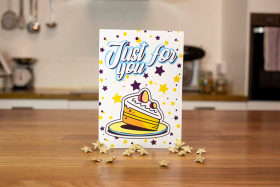 Chocolate Brownie Greeting Card (White Just For You)