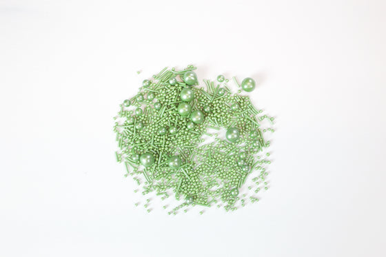Pearlised Green Sprinkles 70g