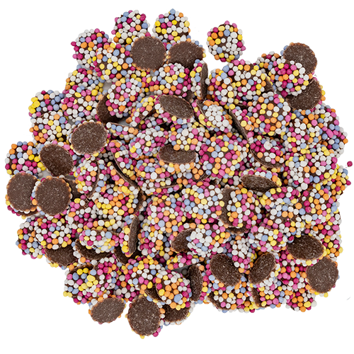 Mini Chocolate Buttons With Sprinkles 45g