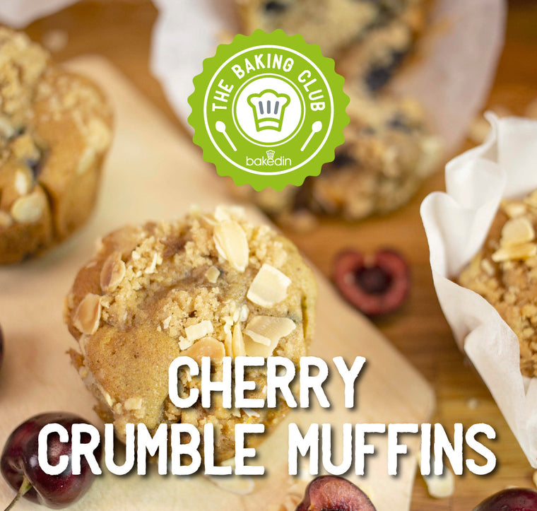 Past Baking Club Boxes - Cherry Crumble Muffins