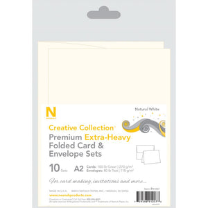 Neenah - A2 Heavy Weight Cards/Envelopes 10/Pkg - Natural White