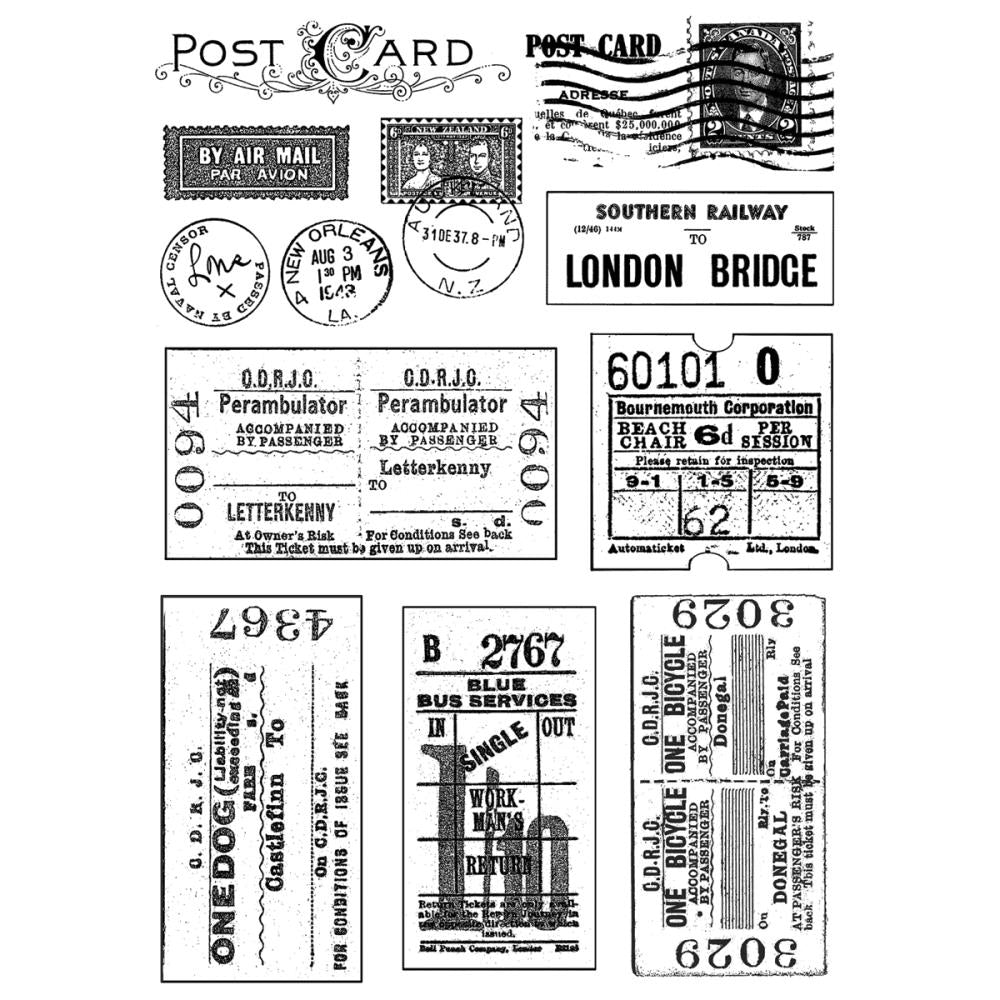 Crafty Individuals - Unmounted Rubber Stamp - 239 - Vintage Tickets & Postmarks