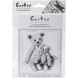 Crafty Individuals - Unmounted Rubber Stamp - 440 - Two Teds - Teddy Bears