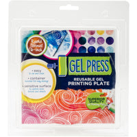 Gel Press - Reusable Gel Printing Plate - 6 x 6 Round Gel Plate