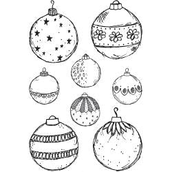 Darkroom Door - Fine Baubles - Christmas Ornaments - Red Rubber Cling Stamps