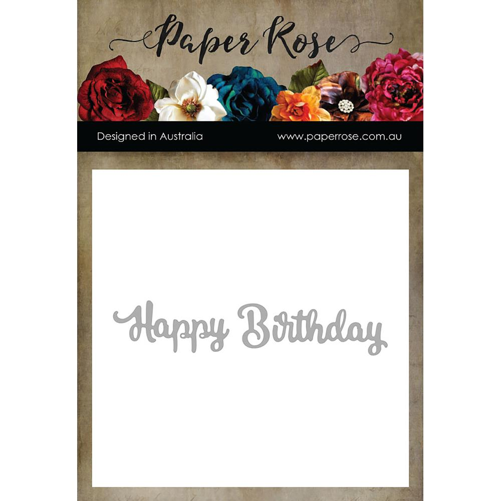 Paper Rose - Layered Happy Birthday - Die