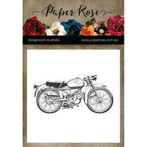Paper Rose - Motorbike - Rubber Cling Stamp
