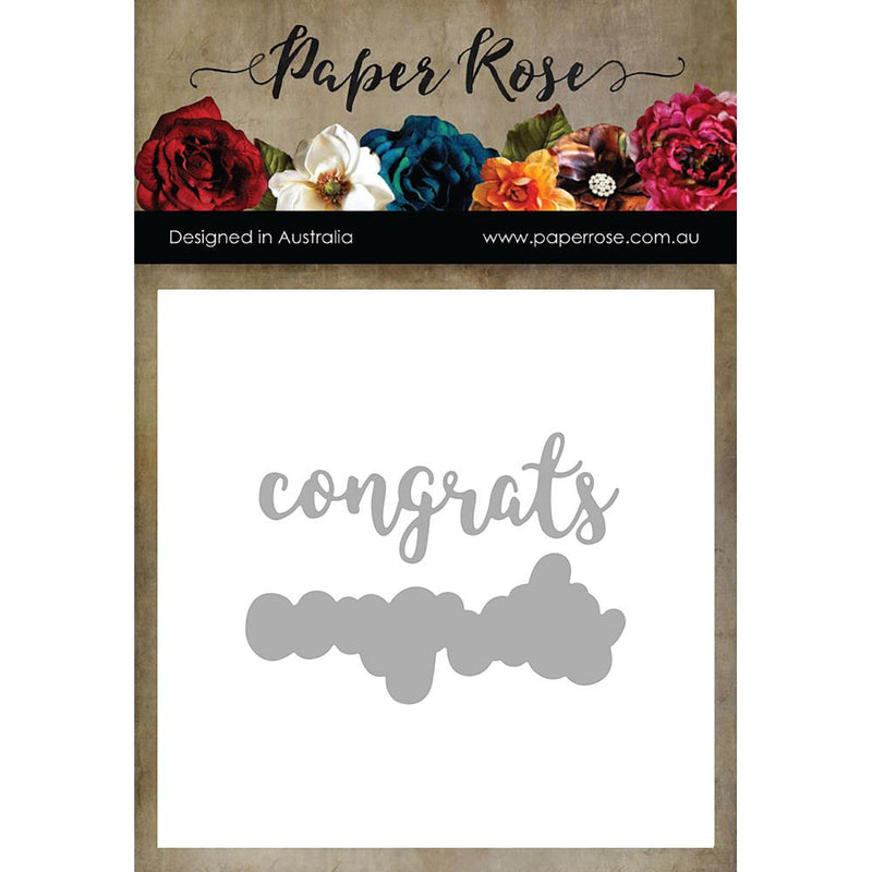 Paper Rose - Layered Congrats - Die