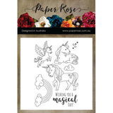 Paper Rose - Unicorn Magic 4 x 6 - Clear Stamp Set