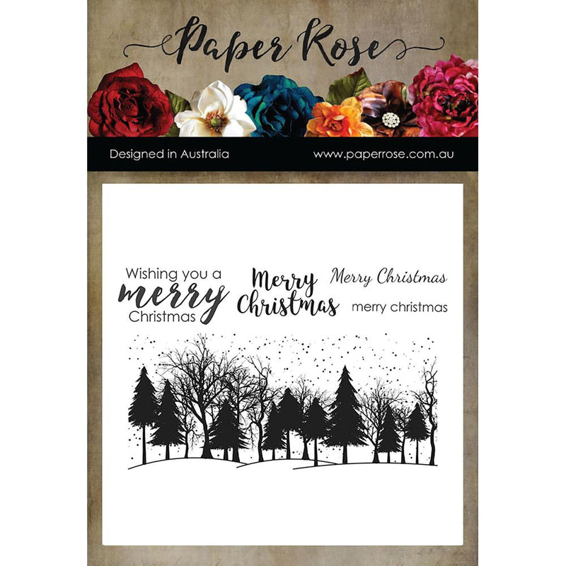 Paper Rose - Winter Trees - Clear Stamp Set