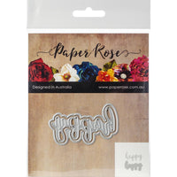 Paper Rose - Layered Happy - Die