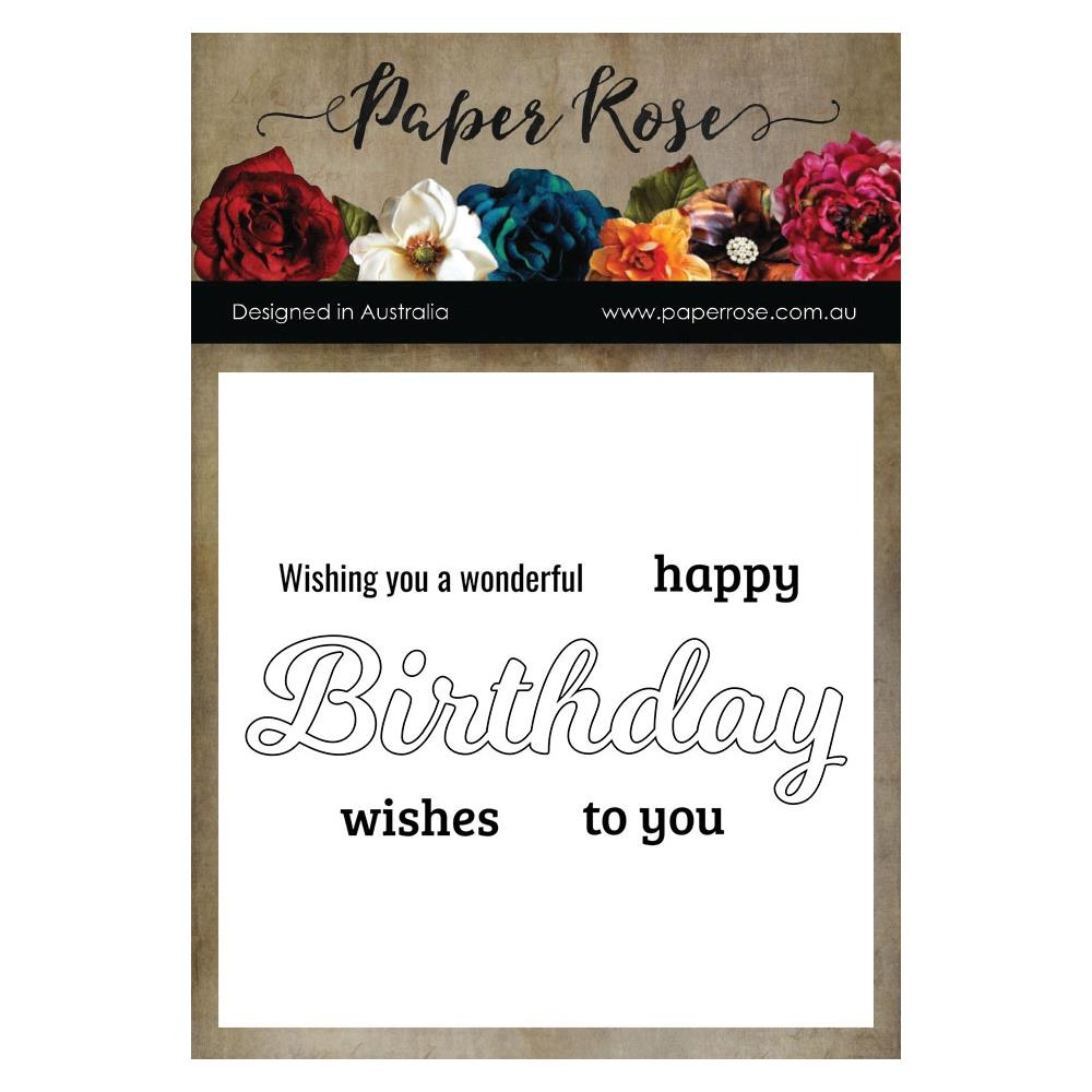 Paper Rose - Birthday  - Clear Stamps